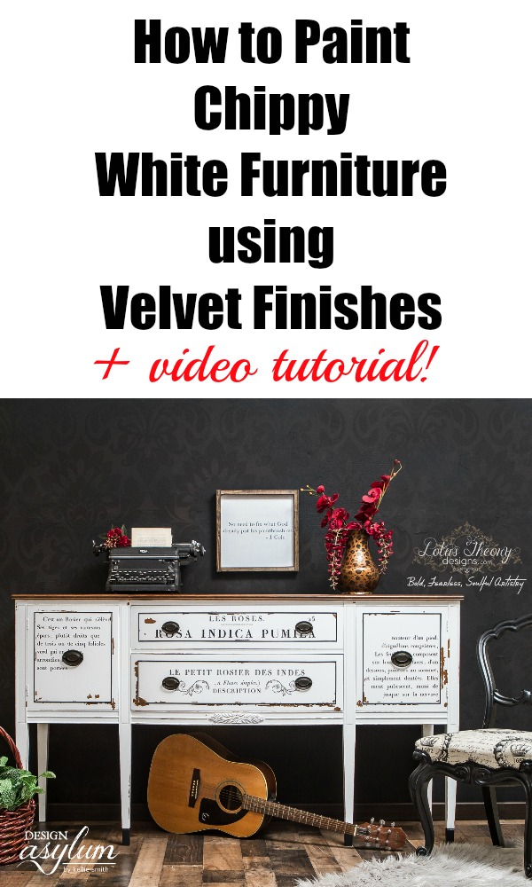 Watch this video tutorial and learn just how to paint chippy white furniture using Velvet Finishes Minimalistic, our January Colour of the Month!